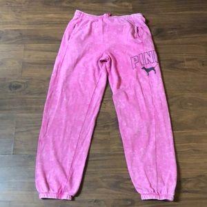 PINK Sweatpants - XS - Pink Tye-Dye with Pockets